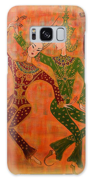 Asian Dancers Galaxy Case