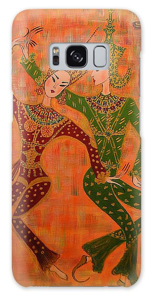 Asian Dancers Galaxy Case by Marie Schwarzer