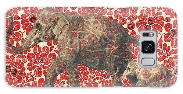 Asian Elephant-jp2185 Galaxy Case by Jean Plout