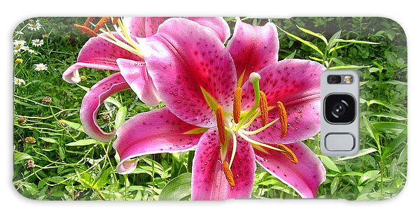 Asiatic Lily  Galaxy Case by Donna Dixon