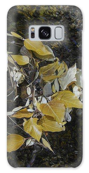 Aspen Leaves In Glass Creek Whirlpool Galaxy Case