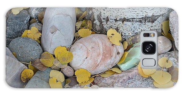 Aspen Leaves On The Rocks Galaxy Case
