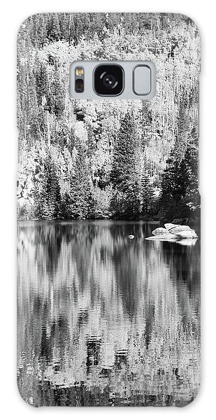 Aspen Reflections - Black And White Galaxy Case by Harold Rau