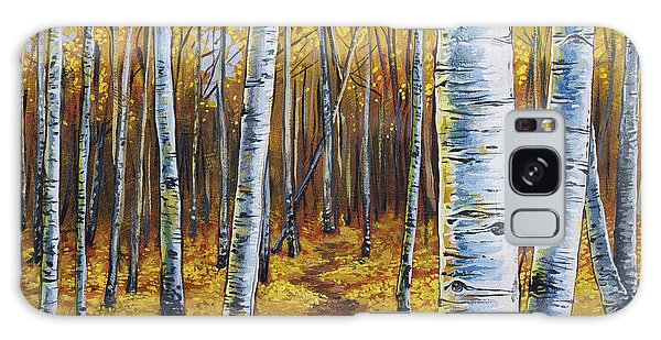 Galaxy Case featuring the painting Aspen Trail by Aaron Spong