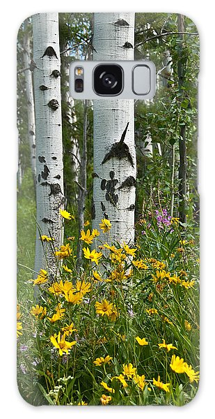 Aspen Trees And Wildflowers Galaxy Case by Jeff Goulden