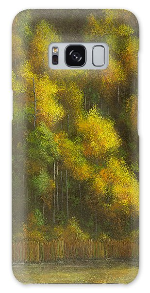Aspens And Cattails Galaxy Case