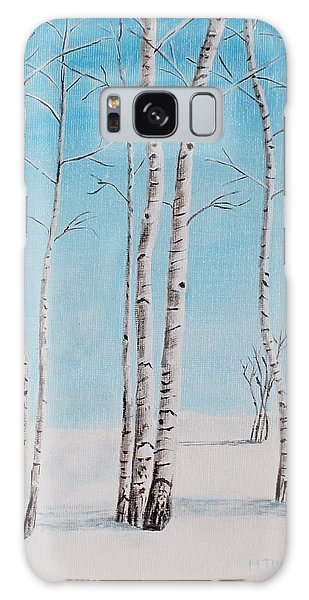 Aspens In Snow Galaxy Case