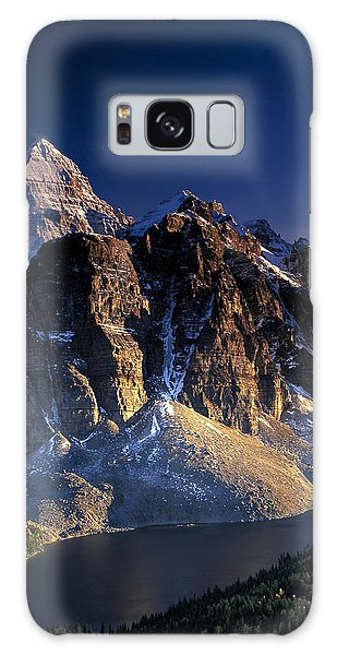 Assiniboine And Sunburst Peak At Sunset Galaxy Case