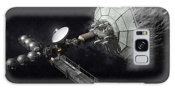 Galaxy Case featuring the digital art Asteroid Mining And Processing by Bryan Versteeg