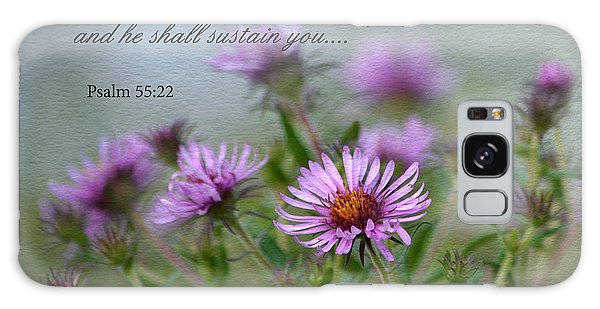 Asters With Scripture Galaxy Case