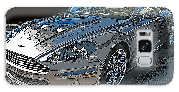 Aston Martin Db S Coupe 3/4 Front View Galaxy Case by Samuel Sheats
