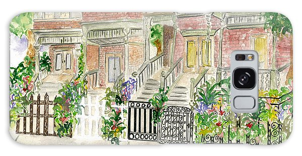 Astor Row In Harlem Galaxy Case by AFineLyne
