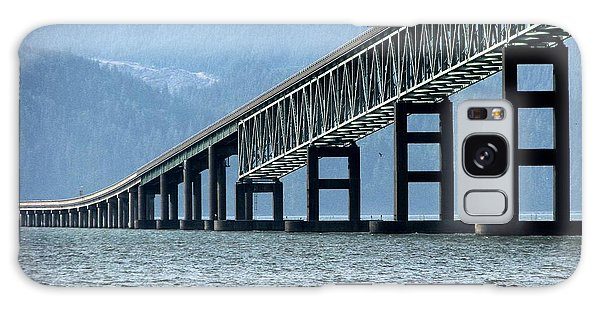 Astoria-megler Bridge Cormorants Galaxy Case