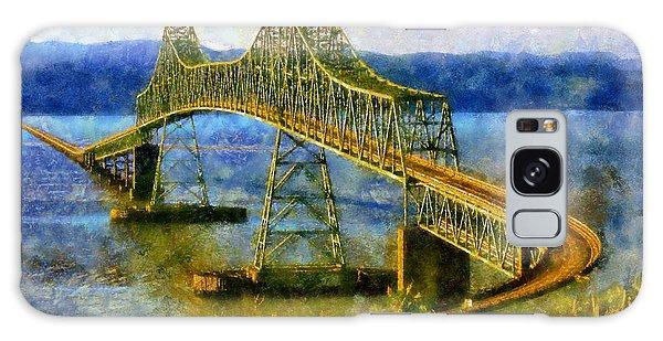 Astoria Megler Bridge Galaxy Case by Kaylee Mason