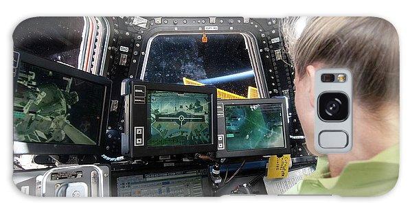 Astronaut Galaxy Case - Astronaut In Iss Robotics Workstation by Nasa