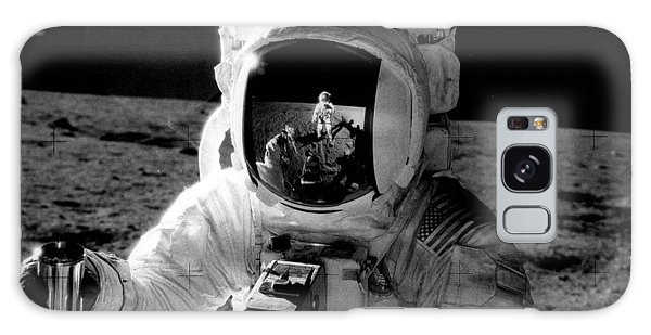 Astronaut Galaxy Case - Astronaut On The Moon by Retro Images Archive