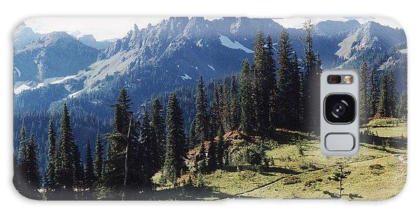 At Mt. Rainiers Feet Galaxy Case by Myrna Walsh