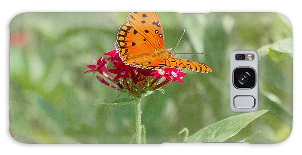 At Rest - Gulf Fritillary Butterfly Galaxy Case