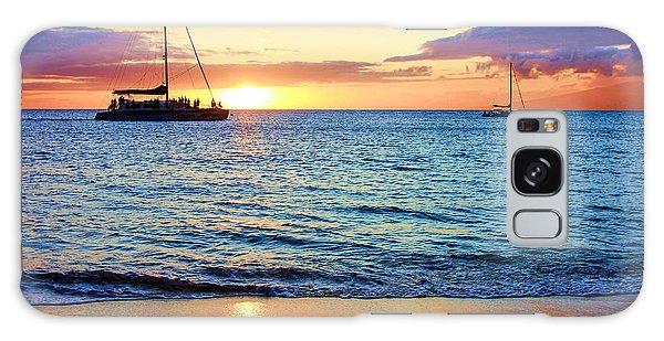 At Sea Sunset Galaxy Case by Robert  Aycock