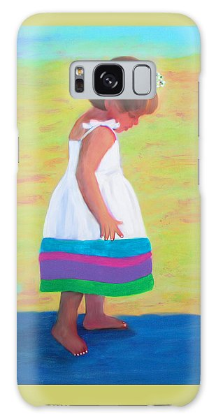 Galaxy Case featuring the painting At The Beach by Deborah Boyd