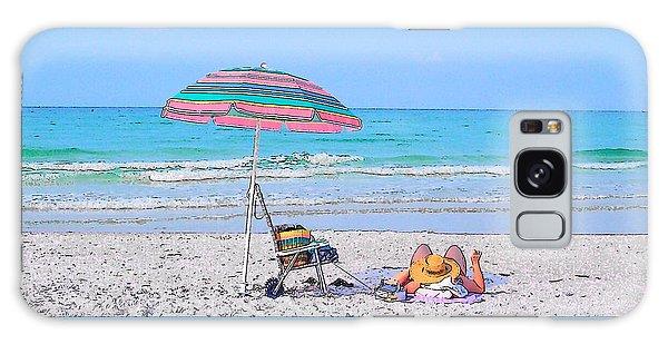 At The Beach Galaxy Case