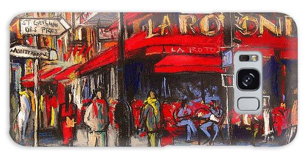 At The Cafe De La Rotonde Paris Galaxy Case