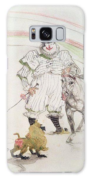 Whip Galaxy Case - At The Circus Performing Horse And Monkey, 1899 Chalk, Crayons And Graphite by Henri de Toulouse-Lautrec