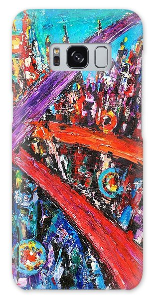 At The Crossroads Galaxy Case by Helen Kagan
