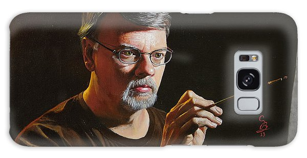 At The Easel Self Portrait Galaxy Case