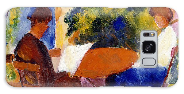 Garden Galaxy S8 Case - At The Garden Table by August Macke
