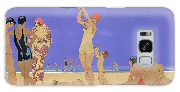 Woman Galaxy Case - At The Lido by Georges Barbier
