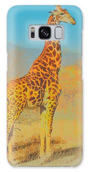At The Zoo - Giraffe Galaxy Case