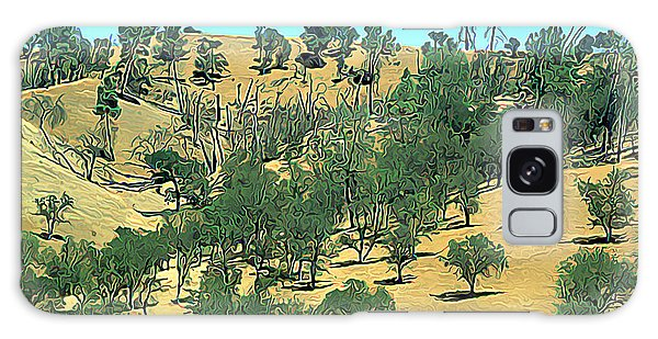 Atascadero Summertime Trees Galaxy Case by Wernher Krutein
