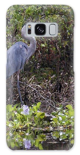 Atchafalaya Swamp Blue Heron Galaxy Case