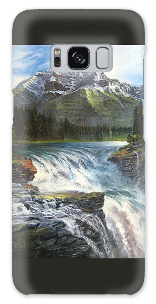Athabasca Falls Galaxy Case by LaVonne Hand