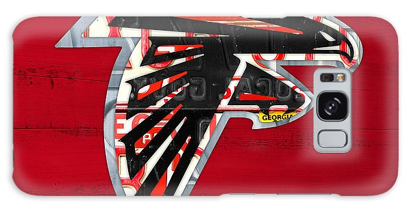 Atlanta Falcons Football Team Retro Logo Georgia License Plate Art Galaxy Case