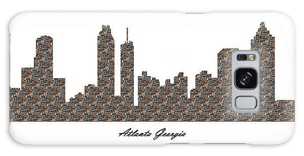 Atlanta Georgia 3d Stone Wall Skyline Galaxy Case