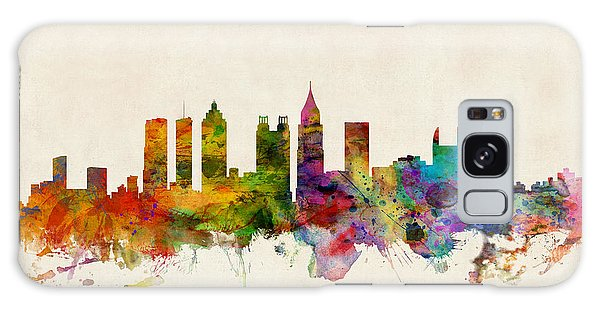 Poster Galaxy Case - Atlanta Georgia Skyline by Michael Tompsett