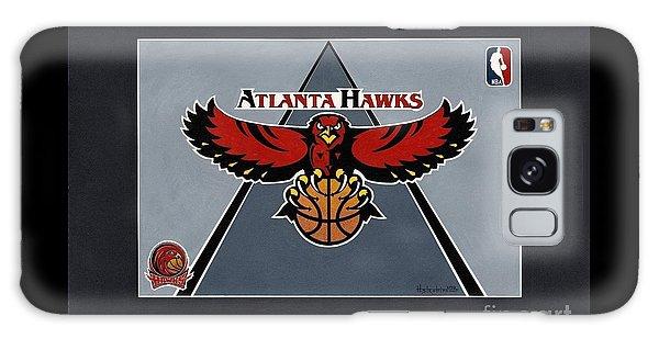 Atlanta Hawks T-shirt Galaxy Case by Herb Strobino