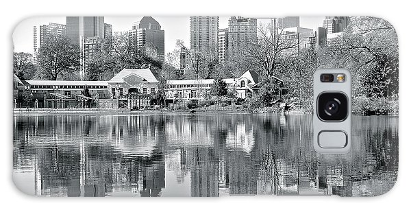 Atlanta Reflecting In Black And White Galaxy Case by Frozen in Time Fine Art Photography