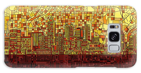 Atlanta Skyline Abstract 3 Galaxy Case