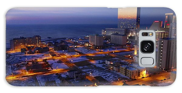 Atlantic City At Dawn Galaxy Case by Joan Reese