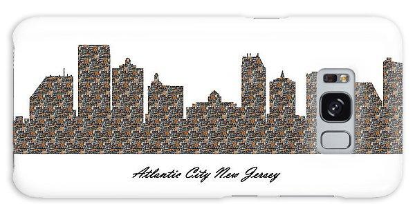 Atlantic City New Jersey 3d Stone Wall Skyline Galaxy Case