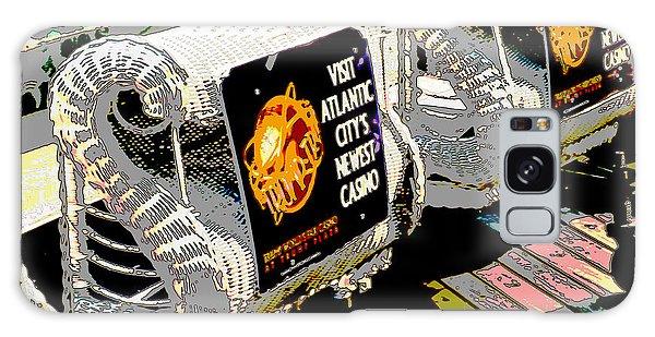 Atlantic City Nostalgia Boardwalk Rolling Chairs Galaxy Case by A Gurmankin