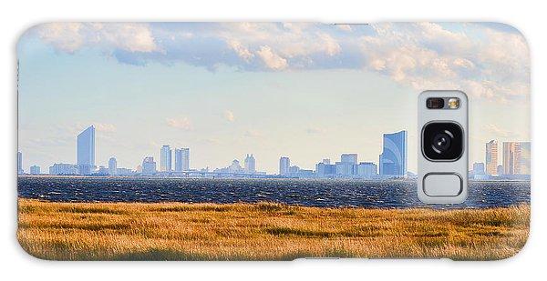 Atlantic City Skyline From Salt Marsh Galaxy Case