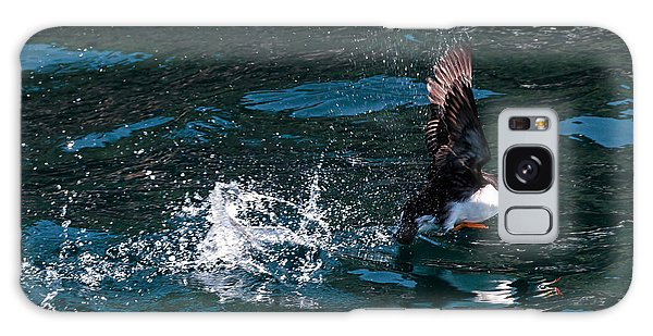 Atlantic Puffin Taking Off Galaxy Case
