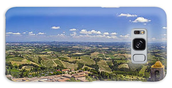 Atop The Bell Tower In San Gimignano Galaxy Case