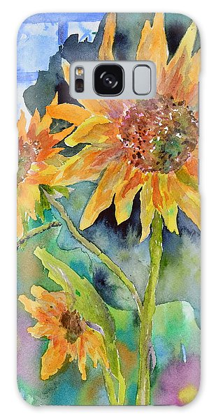 Attack Of The Killer Sunflowers Galaxy Case