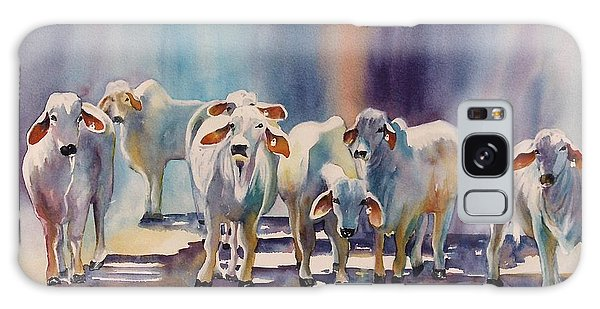 Attention All Ears.  Brahman Bulls Galaxy Case by Roxanne Tobaison
