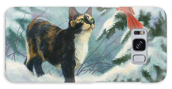 Calico Cat Galaxy Case - Attentive by Lucie Bilodeau